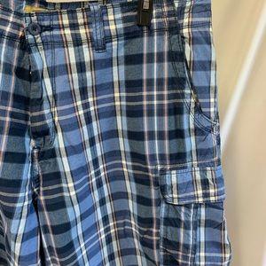 Men's Foundry supply Co plaid cargo shorts size 44